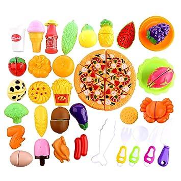Alimentos de juguete, CT-Tribe 40 Piezas frutas y verduras juguete cocinitas de juguetes: Amazon.es: Juguetes y juegos