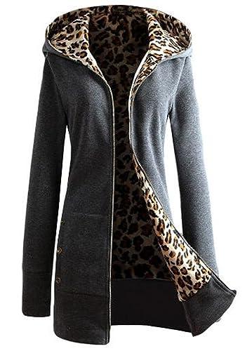 BESTHOO Abrigo Con Capucha Mujer Blusa Tops Encapucha Jacket Hoodie Coat Outwear Manga Larga Otoño C...