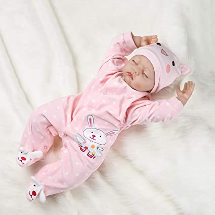 18/'/' Pink Rabbit Nightwear Doll Sleep Clothes Set Newborn Reborn Baby Girl