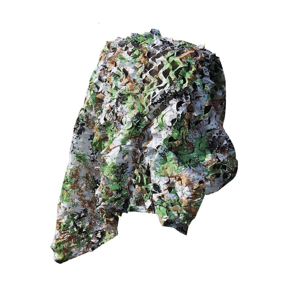 DYFYMXUV Ombra Rete Rete Parasole, Protezione Solare Esterna Protezione Solare criptaggio Rete Jungle Camouflage carport Camouflage Rete Mimetica (Dimensioni   3  4m)