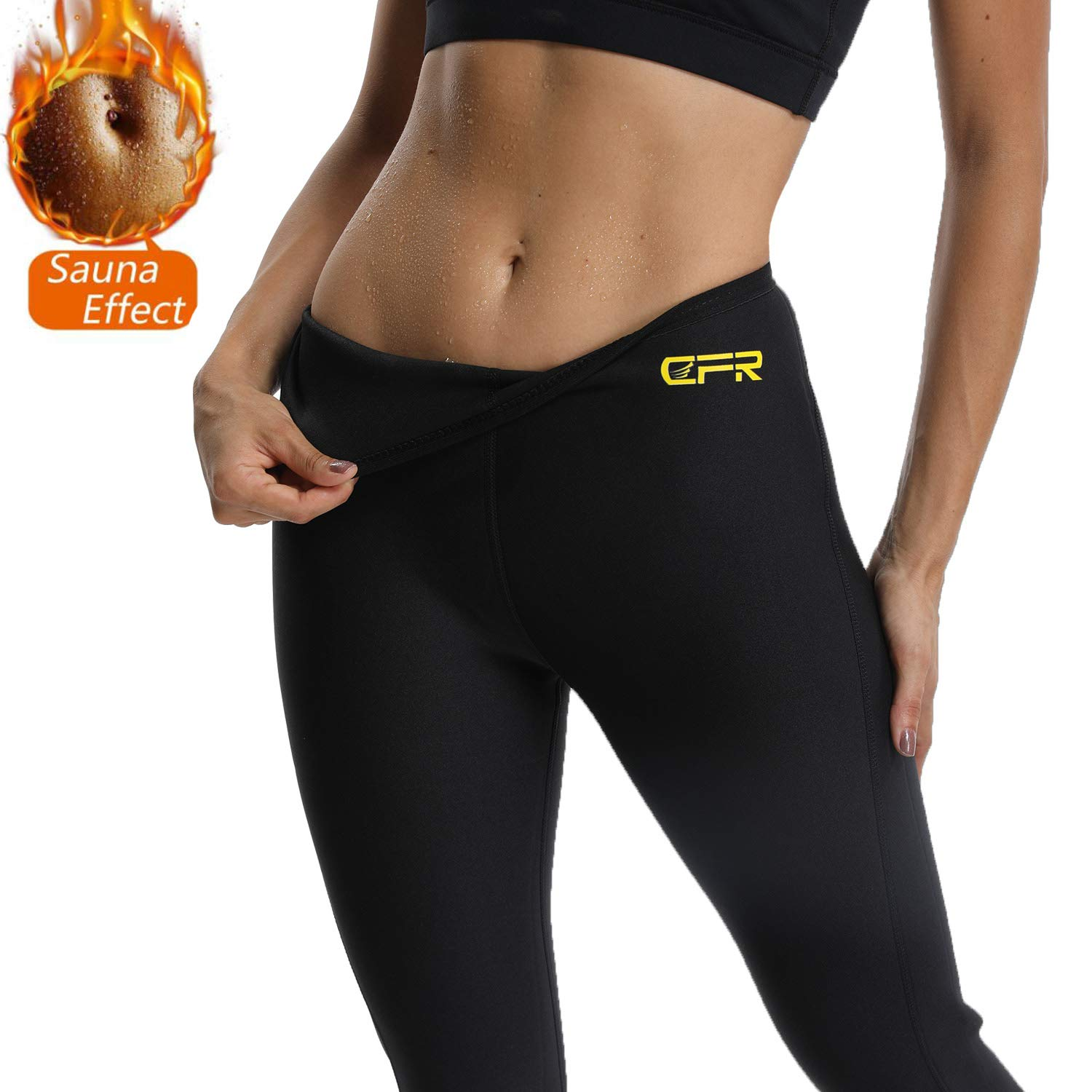 93a5f66f00 Amazon.com : FITTOO Women Plus Size Neoprene Thermo Sweat Sauna Suits  Weight Loss Hot Yoga Pants Fat Body Burner : Sports & Outdoors