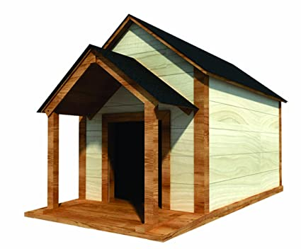 Buy 36 x 60 Dog House Plans - Gable Roof - Pet Size Up To
