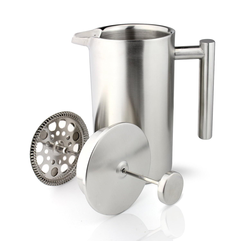 Grunwerg Cafeti/ère /à double paroi et aux c/ôt/és droits 3 tasses