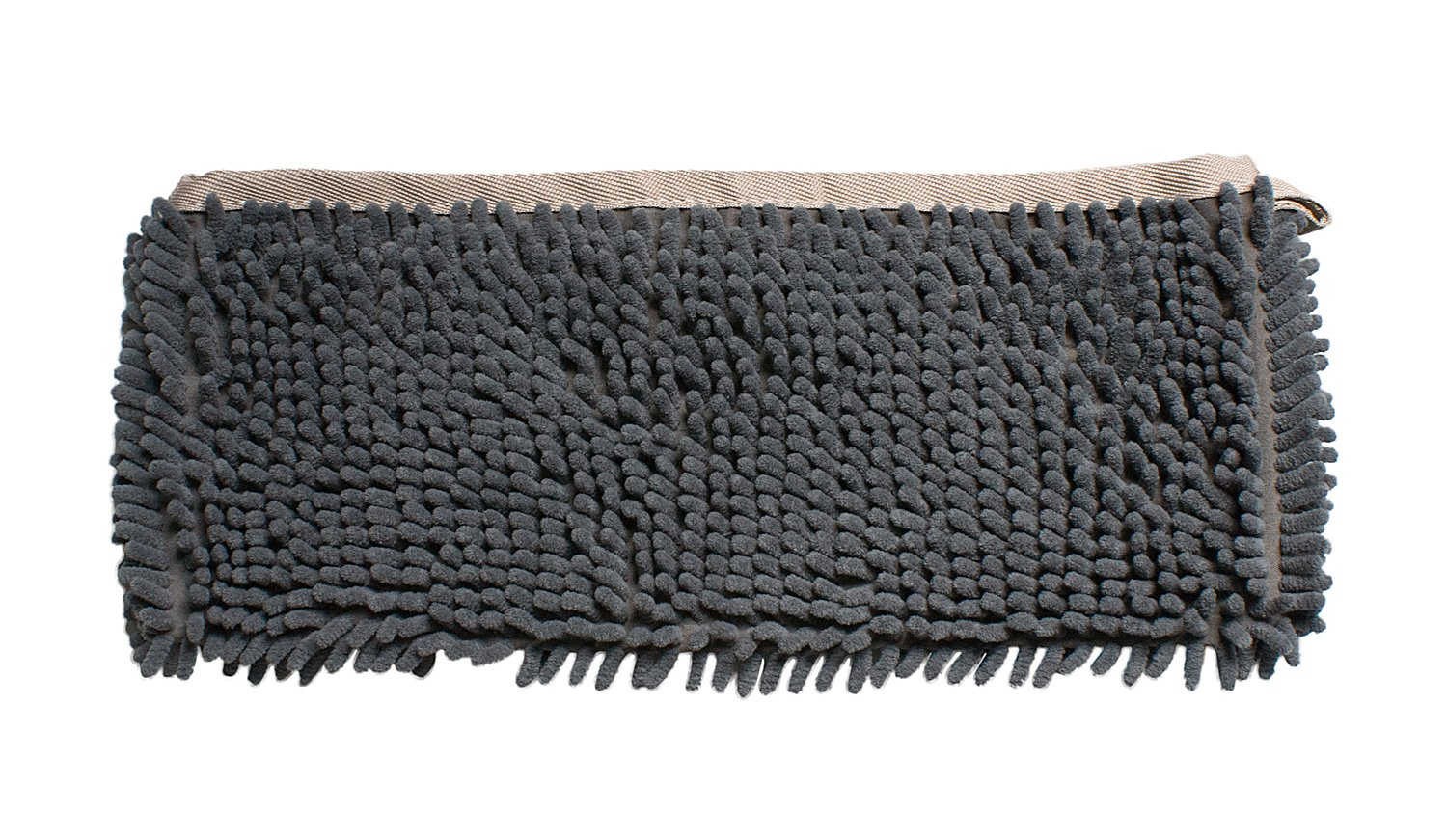 Forpet Dog Drying Shammy Towel Chenille Cats Bathing Chenille Towel Quick Dry (M, Grey)