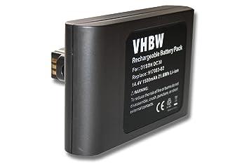 vhbw Batería Li-Ion 1500mAh (14.4V) para robot aspiradora, Home Cleaner, robot doméstico Dyson DC30