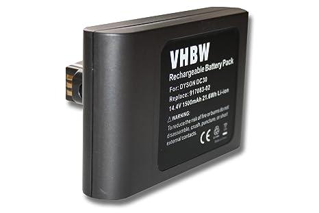 vhbw Batería Li-Ion 1500mAh (14.4V) para robot aspiradora, Home Cleaner