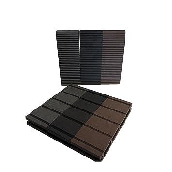 WPC Terrassendielen Basic Line   Komplett Set Dunkelgrau | Qualitätsmuster  Holz Brett Dielen |