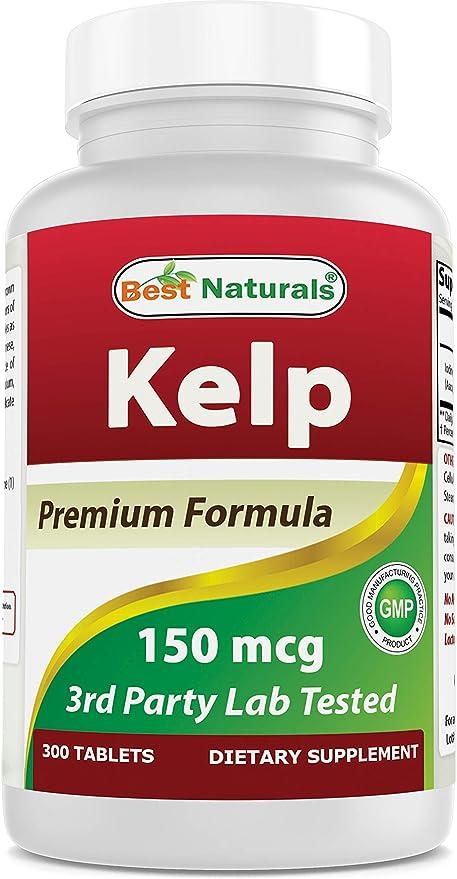 Best Naturals Kelp Supplement 150 Mcg Tablet, 300 Count