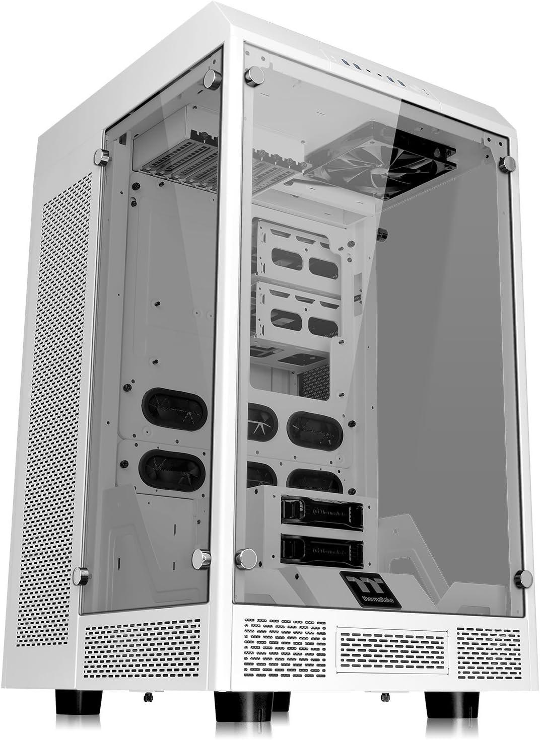 Thermaltake The Tower 900 Snow Edition Full-Tower Blanc - Unités centrales (Full-Tower, PC, SGCC, Verre trempé, Blanc, ATX,EATX,Micro ATX,Mini-ITX, Maison/Bureau)