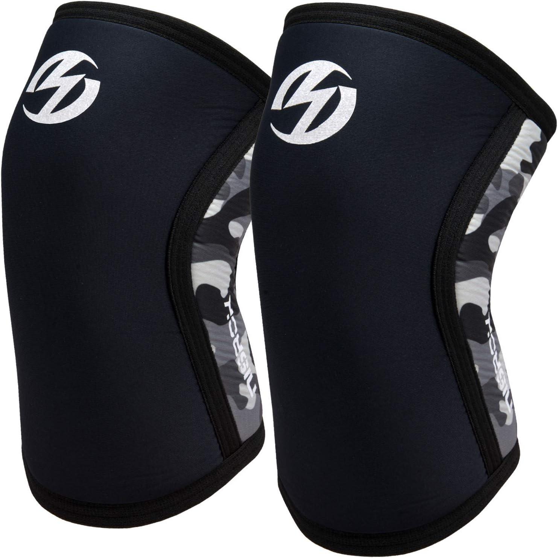 Knee Sleeves Powerlifting 7mm Neoprene Braces Weightlifting OlympicForce XXLARGE