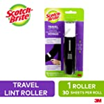 Scotch-Brite Mini Travel Lint Roller with Cover, 30 Sheets, Retractable, Refillable Lint Brush