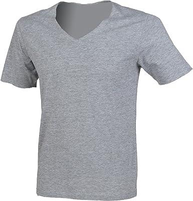 SF - Camiseta básica cuello pico Modelo Wide hombre caballero: Amazon.es: Ropa y accesorios