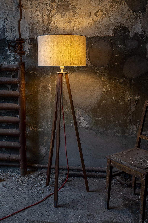 Schlafzimmer Lampenschirm Handgefertigte Leuchte Holz Gestell