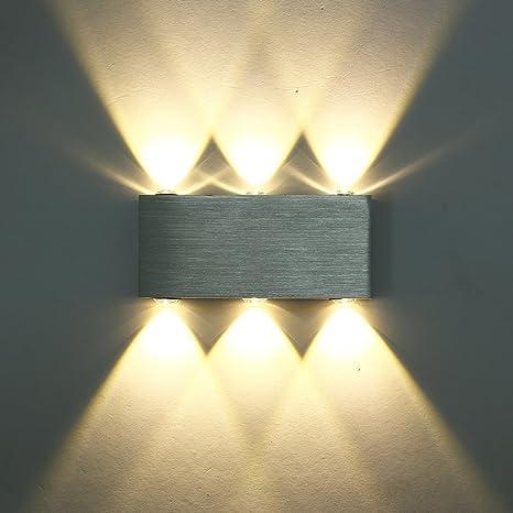Deckey Modern Warm White 18W High Power 6 LED Up Down Wall Lamp Spot ...