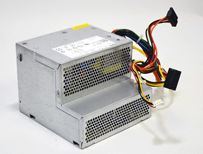 New M619F Genuine OEM Dell Optiplex 360 380 Desktop PC Computer Power Supply Unit PSU 235-Watt Max Output H235PD-001 24-Pin Floppy Connector 2 SATA 4-pin 2x2 Molex M618F D233N