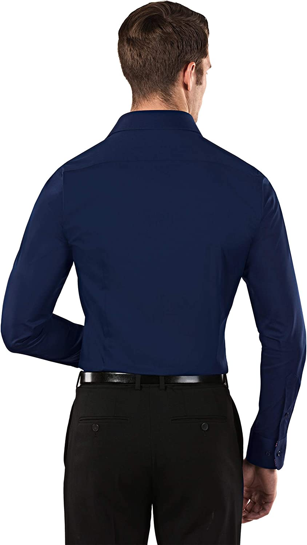 Vincenzo Boretti Camisa de Hombre Easy Iron f/ácil de Planchar Cuello Kent Body-fit Lisa Manga-Larga Muy Entallada Mezcla de algod/ón el/ástica y Muy Agradable