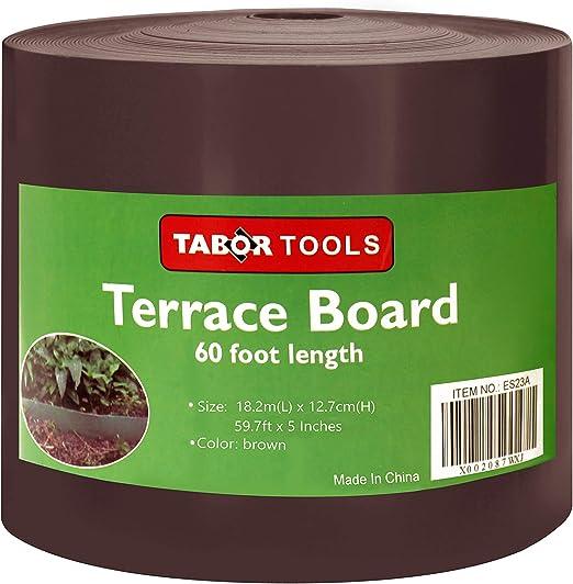 TABOR TOOLS - Bobina de bordes para tabla de terraza (3 colores, 2 ...