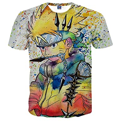 Summer Men/'s Casual Short Sleeve 3D Anime T-Shirts Street Hip Hop Tee Tops YL