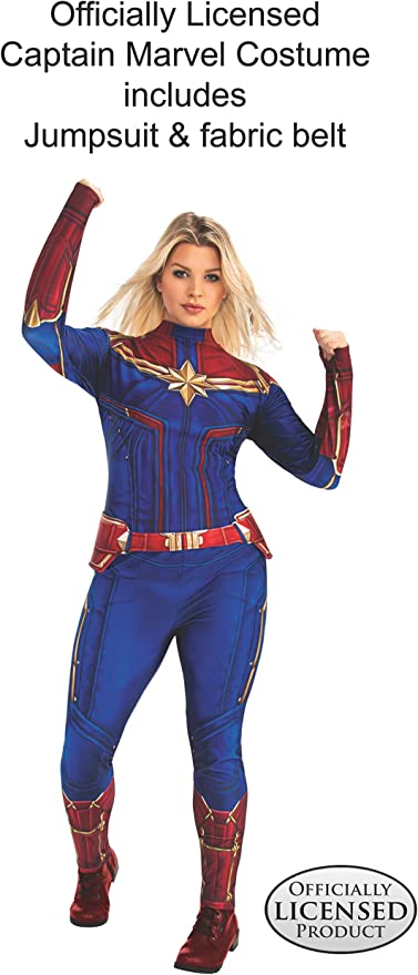 Amazon Com Rubie S Womens Captain Marvel Adult Sized Costumes As Shown Plus Clothing The outfit that brie larson wears in captain marvel for her role as captain marvel is a custom made costume for the movie. rubie s womens captain marvel adult sized costumes as shown plus
