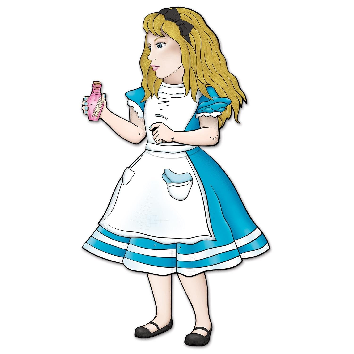 Pack of 12 Jointed Alice In Wonderland Party Wall Decoration Figures 38''