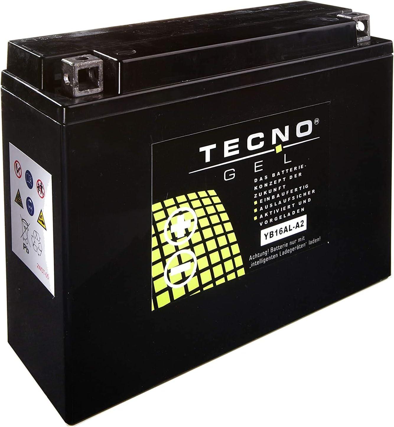 YB16AL-A2 Tecno Gel-bateria para VMX-12 1200 D Vmax A/ño 1992-1993
