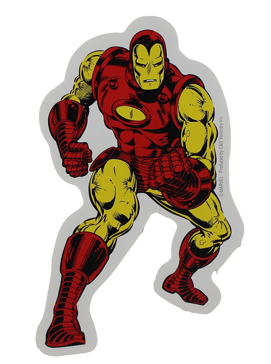 Amazon com licenses products marvel comics retro iron man sticker toys games