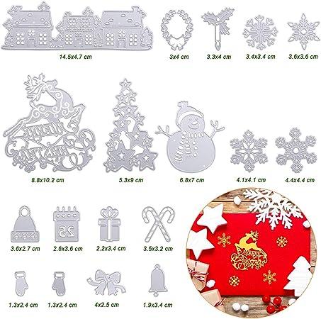 Tarjetas Naler 18 Troqueles Scrapbooking Navidad Troqueles Metal para Scrapbooking Manualidades /Álbumes de Recortes