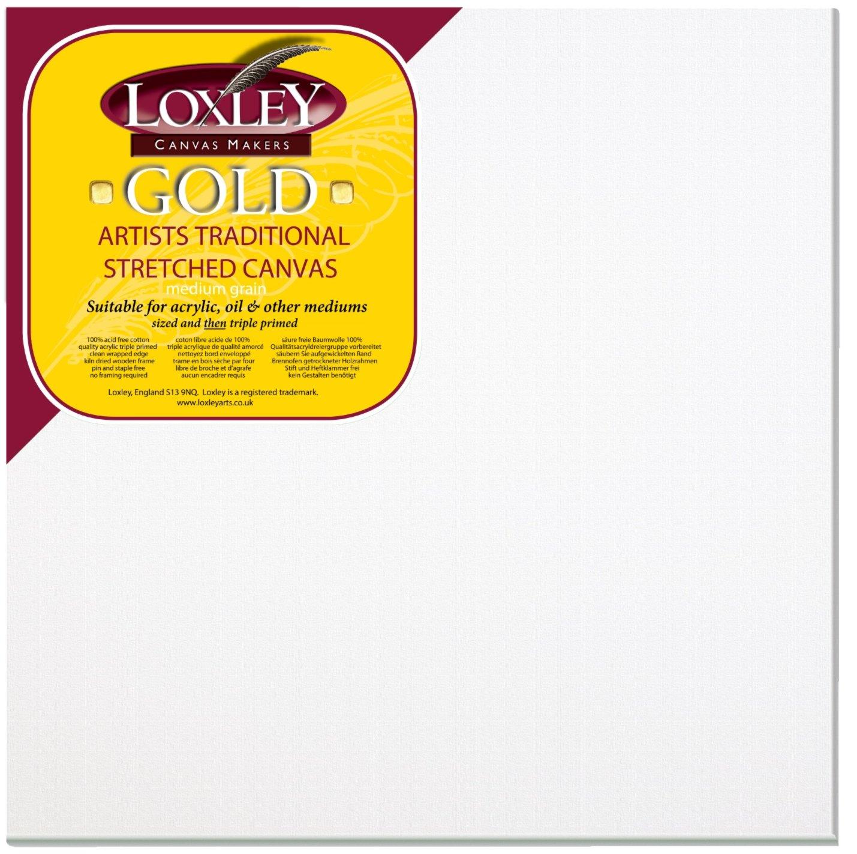 61/x/51/x/1,8/cm Loxley Gold Keilrahmen fertig gespannt grundiert