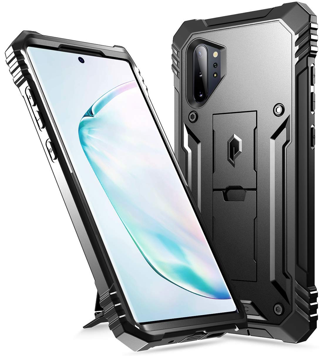 Galaxy Note 10 Plus Rugged Case with Kickstand, Poetic Heavy Duty Military Grade Full Body Cover, Without Built-in-Screen Protector, Revolution, for ...