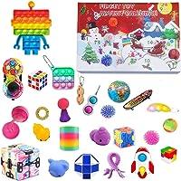 2021 Fidget Advent Calendar Toy Set, 24Pcs Holiday Christmas Countdown Calendar Sensory Fidget Toys Pack, Simple Dimple…