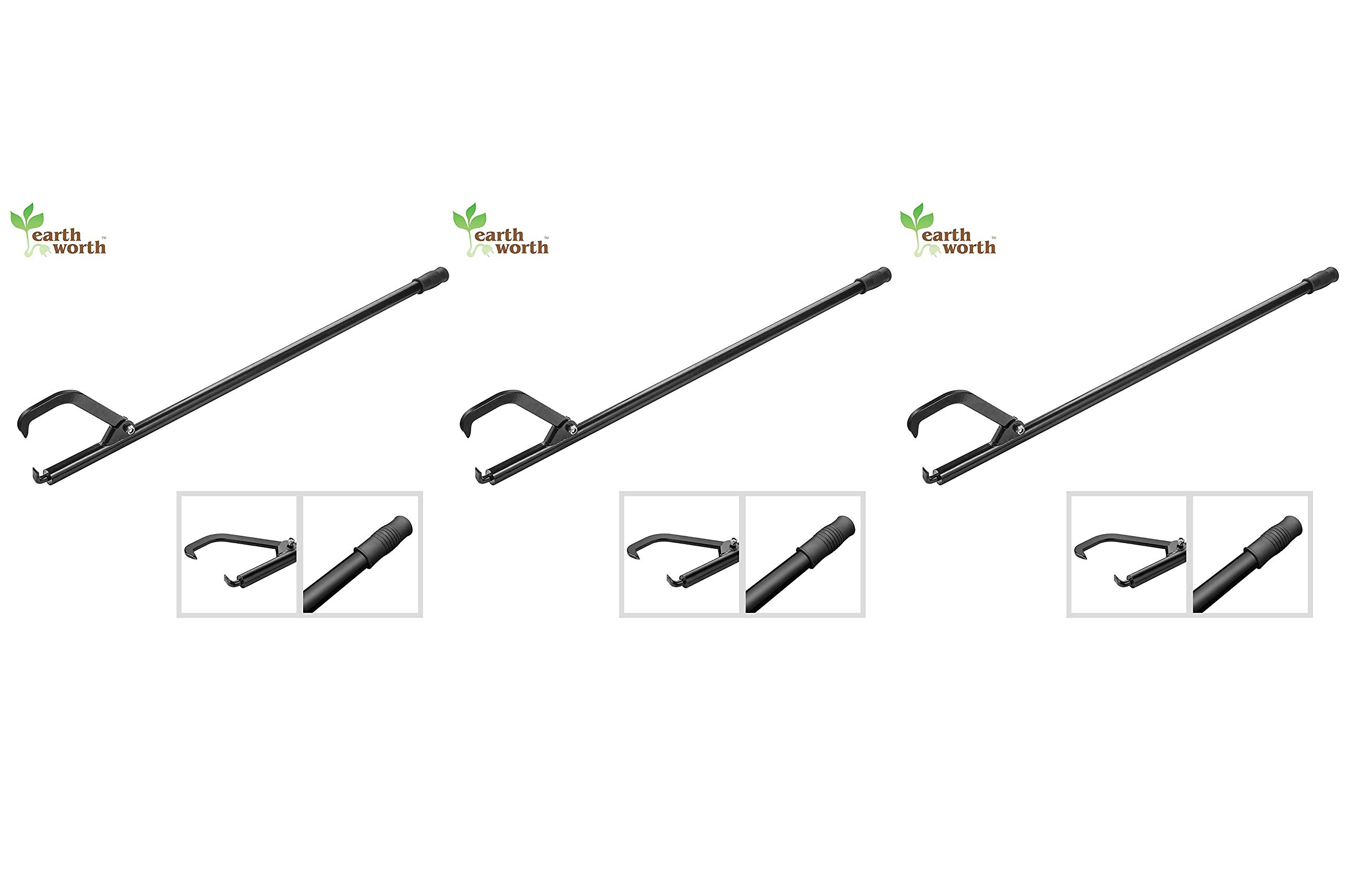 Earth Worth 1945 Cant Hook   Retractable 14 Inch Opening   Steel Handle (Thrее Рack)