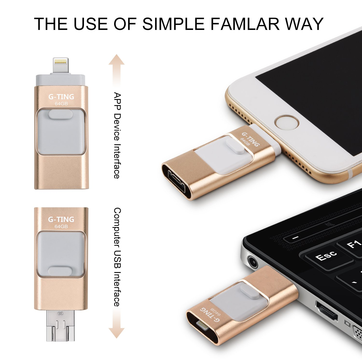 usb flash drives for iphone 64 gb pen drive memory