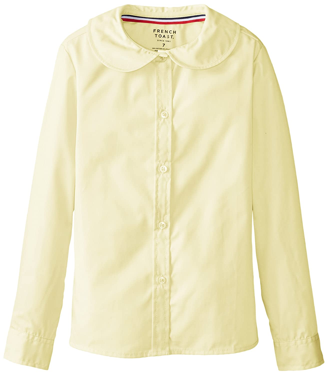 French Toast Big Girls' Long Sleeve Peter Pan Blouse SE9321