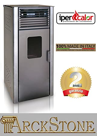 Estufa de pellets Aire Caliente Ventilata económica marca Centro Flam ipercalor Basic Gemma 0 revestimiento color ...