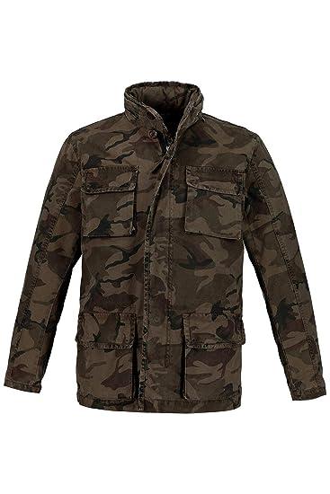 e29502027edd JP 1880 Herren große Größen Camouflage-Jacke 719651  JP 1880  Amazon ...