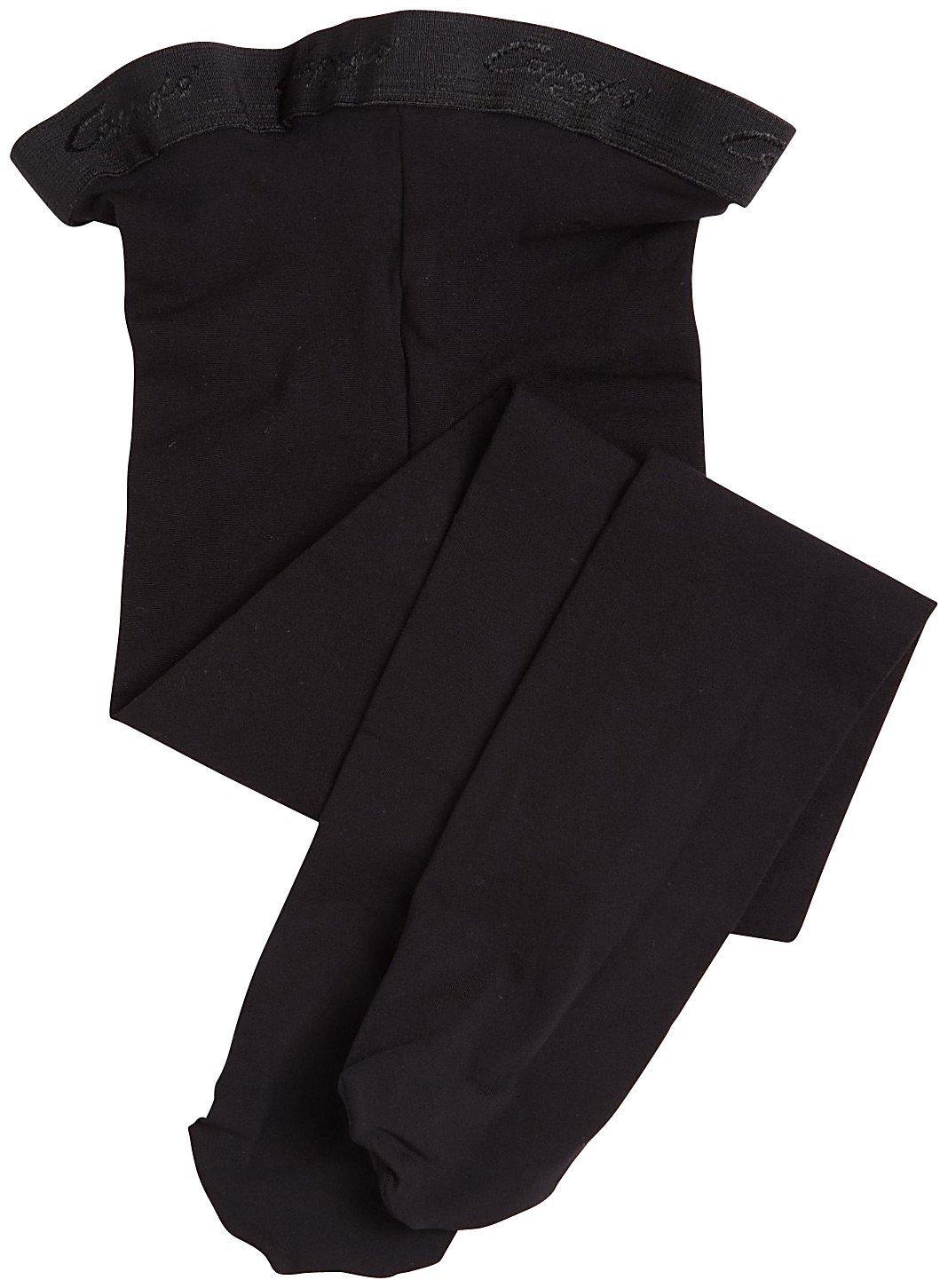 Capezio Little Girls' Ultra Soft Transition Tight, Black, One Size (Kid 2-6)
