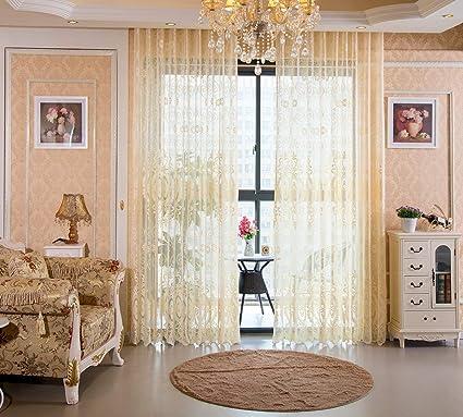GQAI Rideau Jacquard Design Fleurs Perspective Chambre Tulle ...