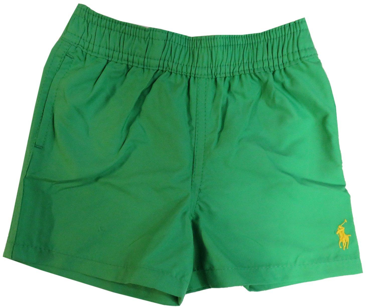 Ralph Lauren Polo Infant Boy's Swim Trunks Tiller Green (24 Months) by Ralph Lauren