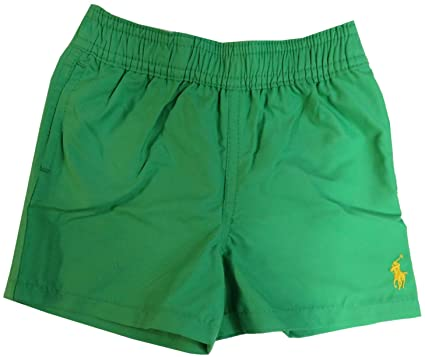 18e03cc471 Amazon.com: RALPH LAUREN Polo Infant Boy's Swim Trunks Tiller Green ...