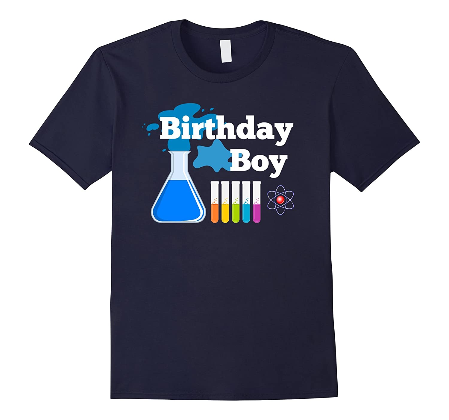 STEM Mad Science Boys Birthday Party Shirt-CD