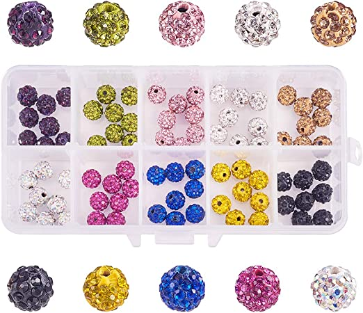 100pcs Crystal Rhinestone Paved Rondelle Spacer Beads 6mm for Jewelry Making MYY