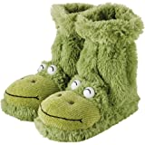 Aroma Home Fun For Feet Slippers Socks Green Frogs