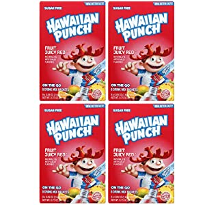 Hawaiian Punch Fruit Juicy Red on the Go New Better Taste 8 Drink Mixes - 4 Pack