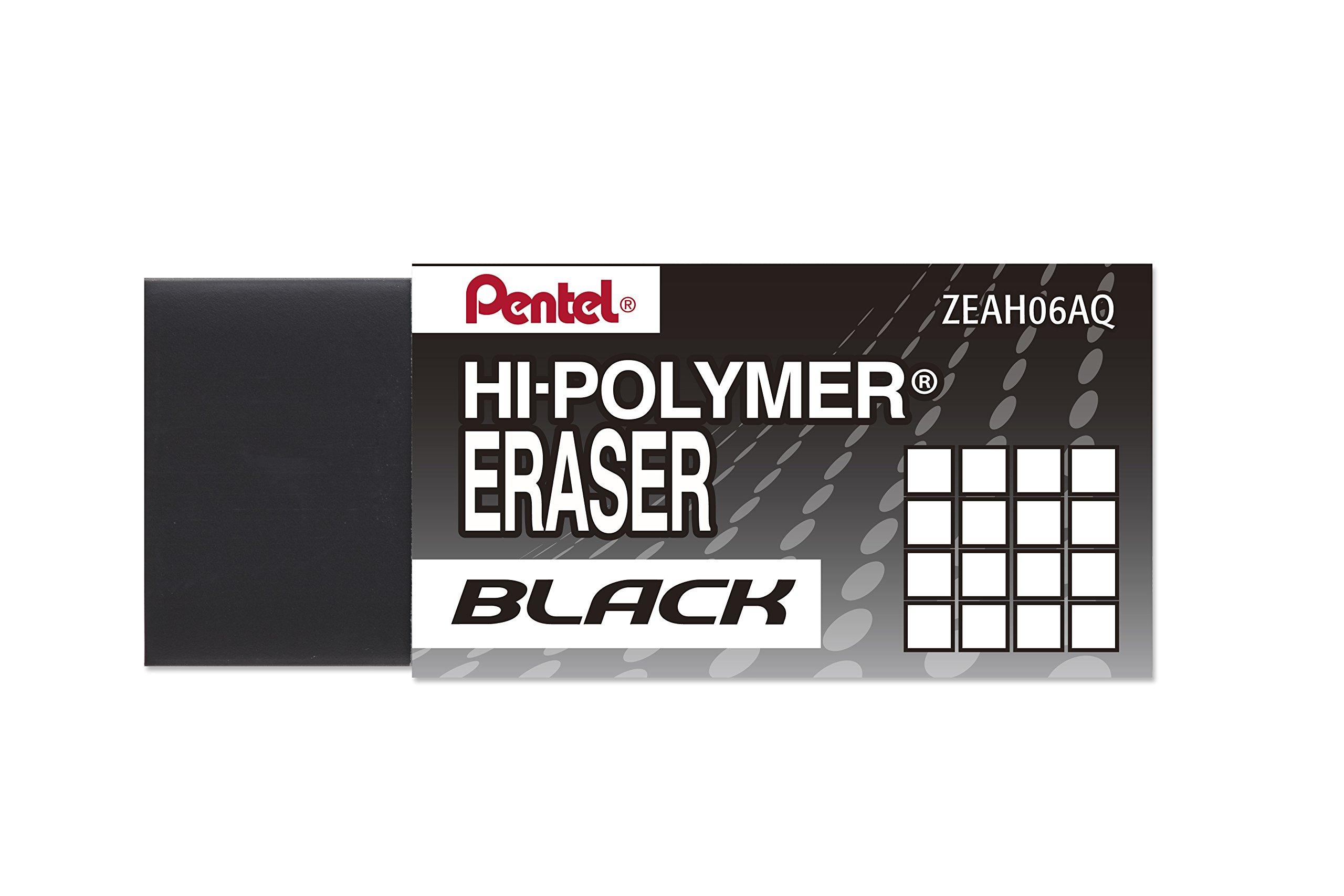 Pentel Hi-Polymer Block Eraser, Small Black 48 pack (ZEAH06A) by Pentel (Image #4)