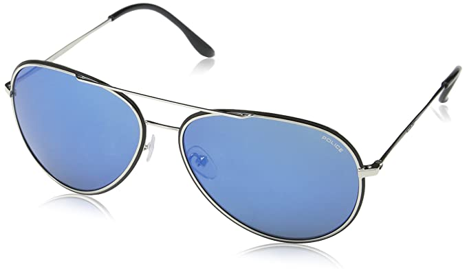 Police S8299, gafas de sol para Hombre, Azul (SHINY ...