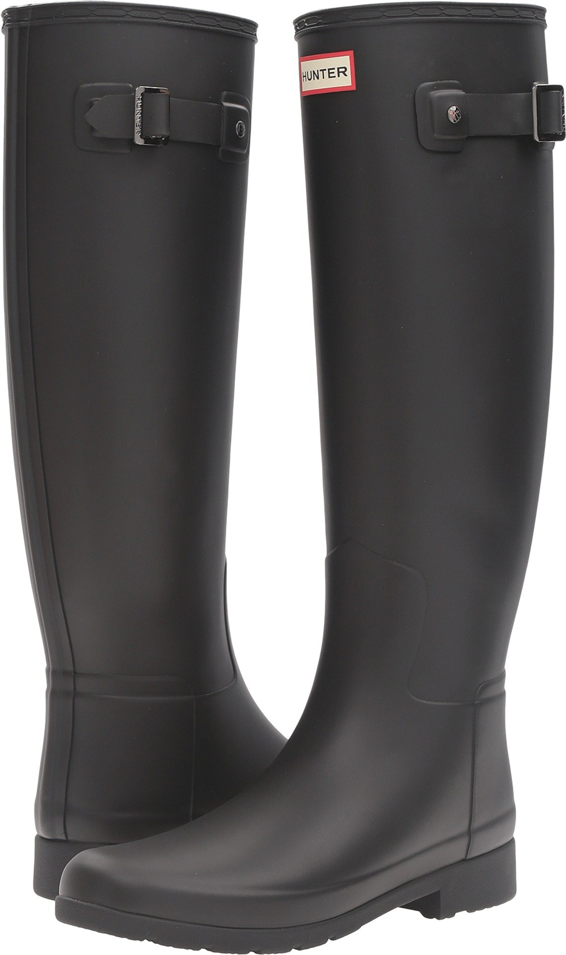 Hunter Women's Original Refined Rain Boots Black 8 M US by Hunter