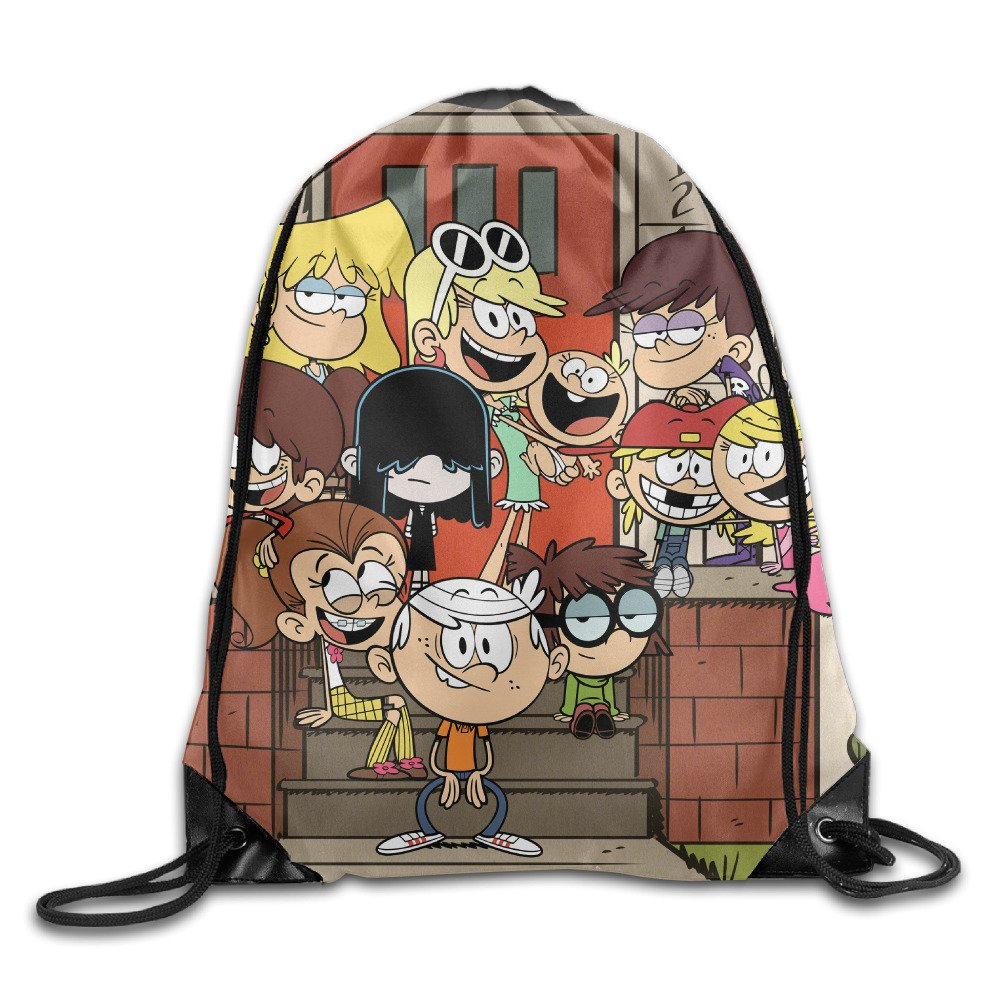The Loud House Portable Sack Bag, Drawstring Backpack, Sport Bag, Drawstring Bag For Men Women, Sport , Travel, Home, Gym, Outdoor, Activity (16.9 14.2 Inch) 60%OFF