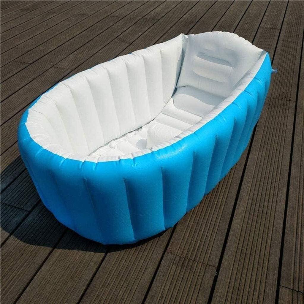 XZQ Piscina, Piscina De Juegos De Recreación Acuática para Niños, Bañera Inflable para Bebés, Piscina para Bebés, 98 * 65 * 28 Cm (Color : Blue)