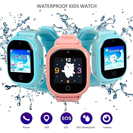 Dxrise Waterproof Smart Watch for Kids Games GPS Tracker Watch Phone GPS smartwatch Kids Watches Smart