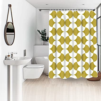 Image Unavailable Not Available For Color Wasserrhythm 72x72 Inches White And Yellow Shower Curtain